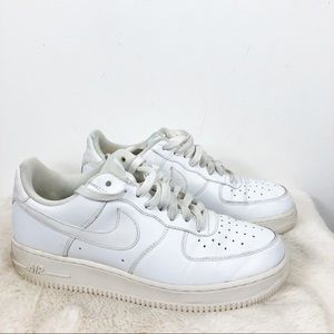 Nike White Air Force 1 Sneakers - Size 10